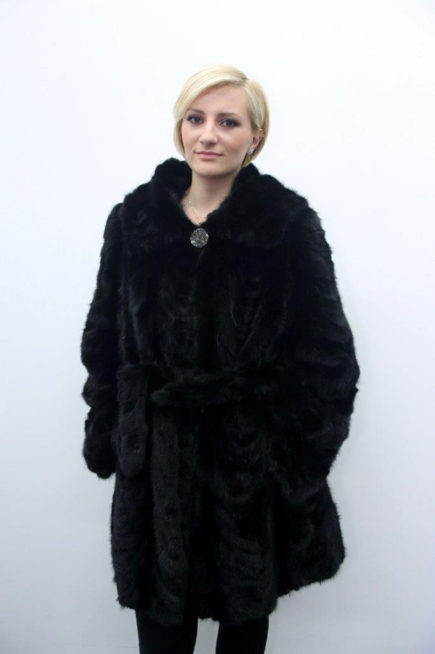 Routh - MINK 3/4 Jacket with Hood