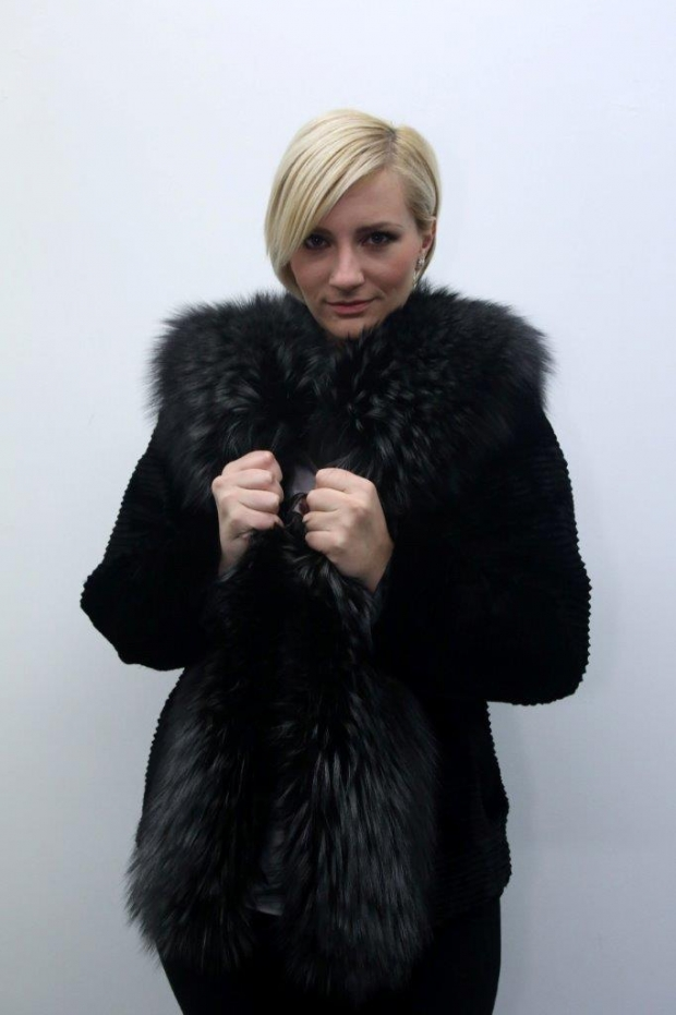 KONSTANTIN - Mink and Fox Jacket with Hood
